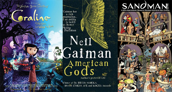 sandman, coraline, american gods