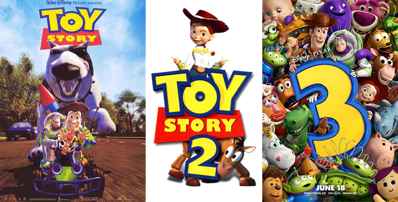toy story 1, 2, 3